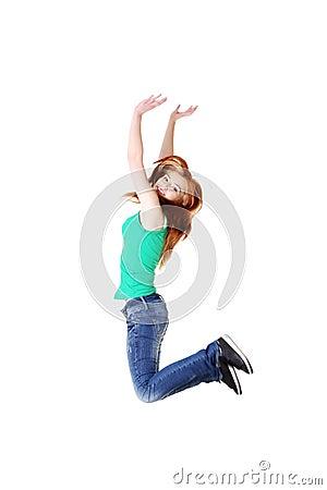 少年学员跳。