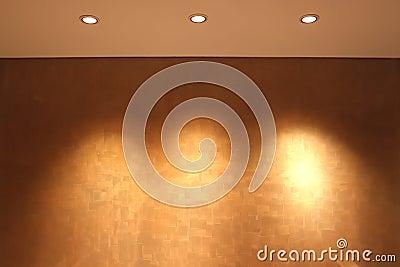 展览的空的墙壁