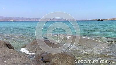 岩石海滨在纳克索斯岛 股票录像