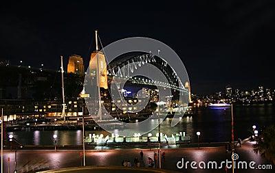 从岩石的悉尼港桥,悉尼