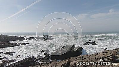布列塔尼海岸线 影视素材