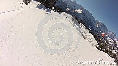 布劳恩瓦尔德滑雪 影视素材