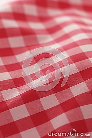 布料详细野餐红色