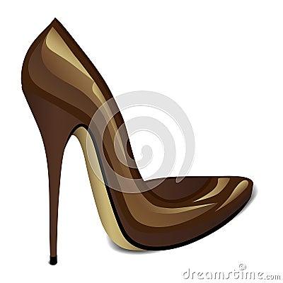 布朗高跟鞋