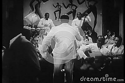 带领导举办的音乐家in1930s夜总会 股票录像