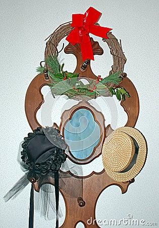 帽子葡萄酒花圈