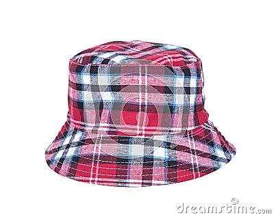 在白色背景隔绝的布料帽子.图片