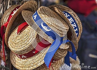 平底船的船夫的帽子