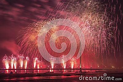 庆祝的致敬在里加