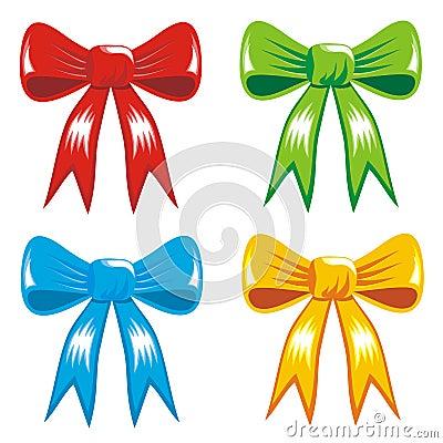 庆祝颜色礼品丝带的弓