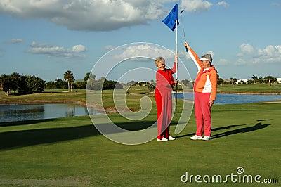 庆祝高尔夫球运动员夫人
