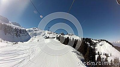 弗卢姆塞贝格滑雪 影视素材