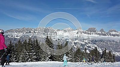弗卢姆塞贝格滑雪 股票视频