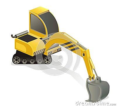微型的挖掘机