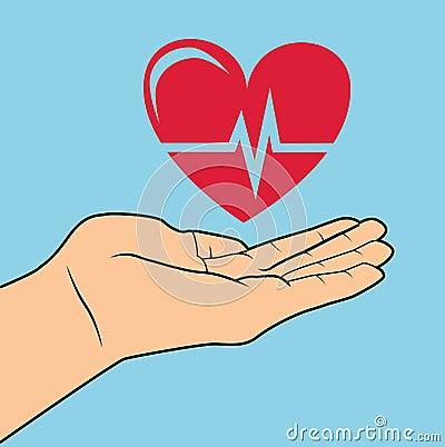 在蓝色背景,传染媒介例证的心脏病学设计.图片