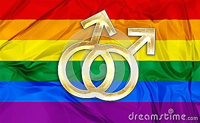 色情女同性恋_五颜六色的彩虹旗子和标志的例证快乐,女同性恋的关系,爱或者性别的