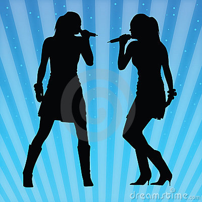 性感的唱歌的向量妇女