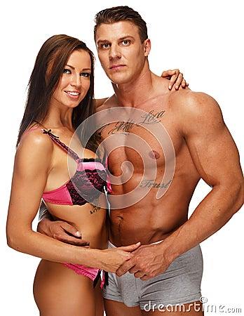年轻性感的夫妇