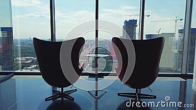 总经理的聚会场所一个公司办公室的顶楼的 股票录像