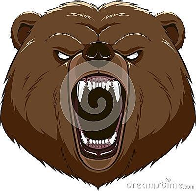 例证:恼怒的熊头吉祥人.图片