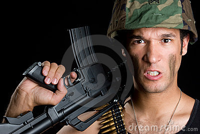 恼怒的陆军人