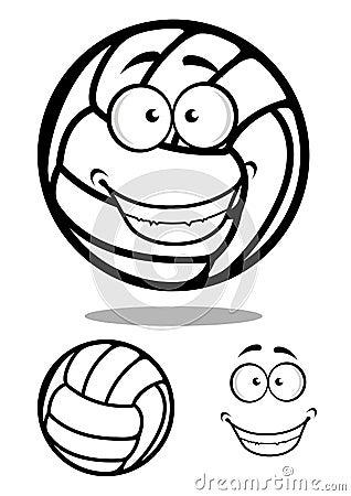 愉快的动画片排球球字符图片