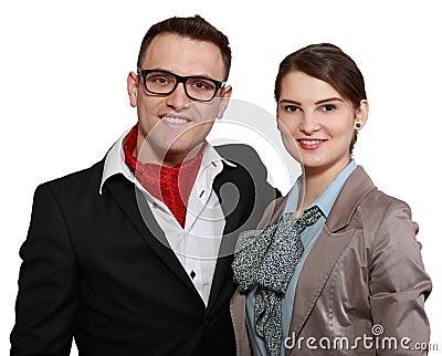 年轻愉快的夫妇