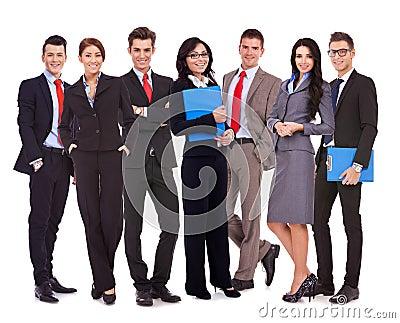 愉快的成功的企业小组