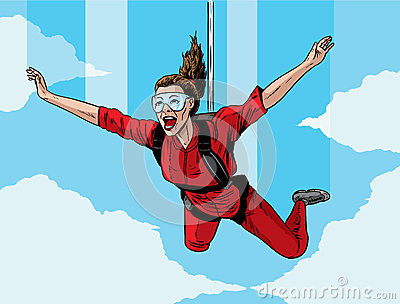 Girl Skydiving ...