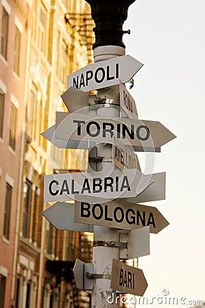 意大利语的城市