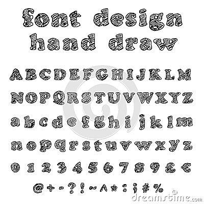 手写的字体-乱画-信件,大写,小写,数字,数字,符号集.图片