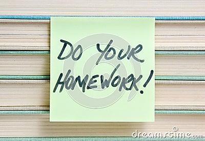 执行您家庭作业的符号
