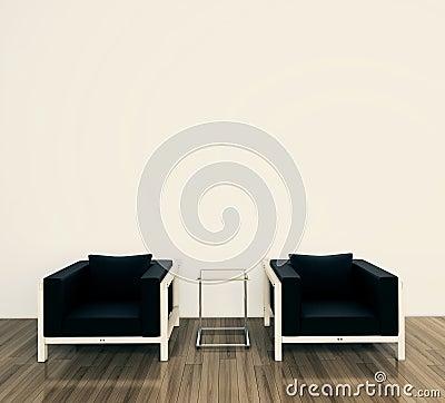 扶手椅子内部最小现代