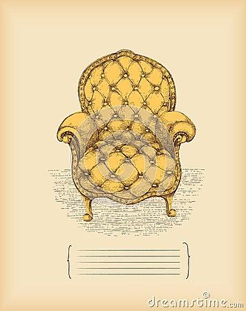 扶手椅子图画葡萄酒