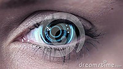 技术在肉眼的代码设计 影视素材