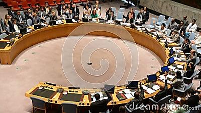 投票在安理会房间联合国