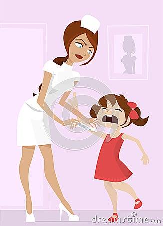 漫画人物护士schoogirl向量.图片
