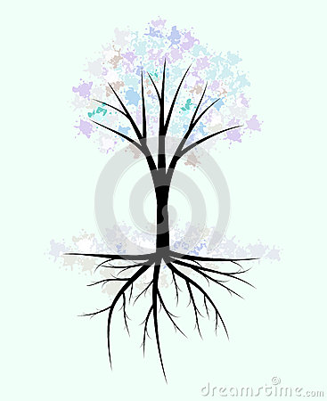 抽象冬天树