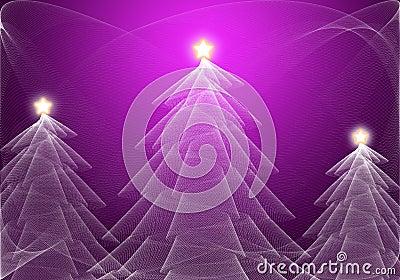 抽象圣诞树