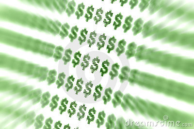 抽象美元的符号