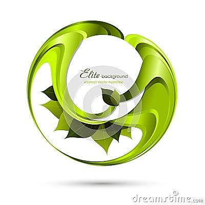 抽象背景绿色叶子