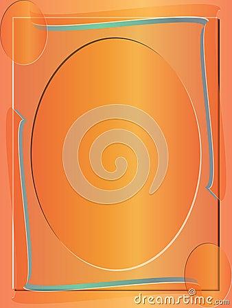 抽象背景边界色的框架