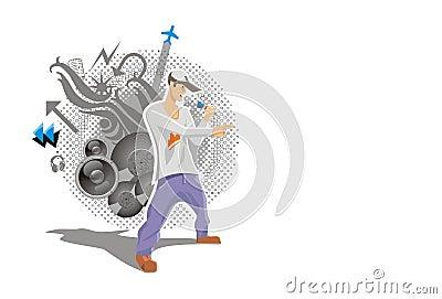 抽象背景音乐歌唱家报告人图片