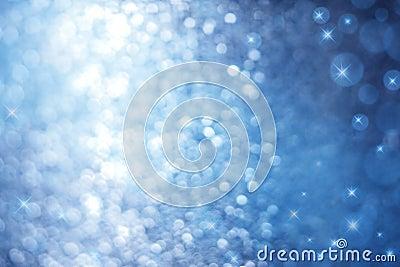 抽象蓝色闪闪发光背景