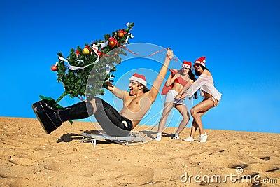 拉圣诞老人圣诞老人的性感性感海滩wigglewiggle图片