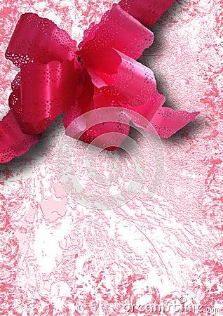 拼贴画节假日粉红色丝带