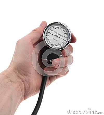 拿着血压计的手图片