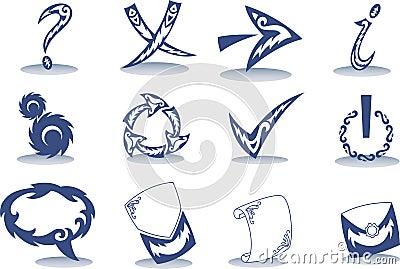 按钮计算机设计样式纹身花刺用量种类.图片