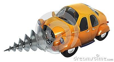 挖掘机的汽车