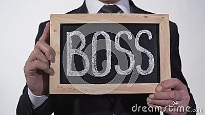 控制写在黑板在商人手,公司总经理,领导 股票视频